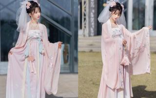 """时尚穿搭文案:汉服着装搭配,""""汉服+头纱""""的穿法"""